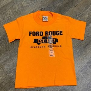 FORD tshirt extra small Orange NWS
